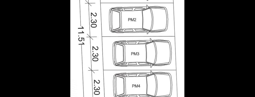 Polis Invest - Jug Bogdana 7, Novi Sad - Parking dimenzije